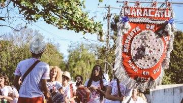 Cortejo musical afro-brasileiro com o Grupo Maracatu Semente de Angola – 31/05/2019 – 12:00