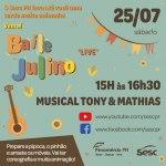 Sesc PR promove Baile Julino remoto no próximo sábado