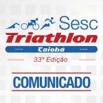 Sesc Triathlon Caiobá – Comunicado aos atletas