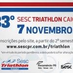 33ª edição do Sesc Triathlon Caiobá tem data, local e horário para começar