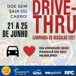 Unidades do Sesc PR de 28 cidades receberão doações da Campanha do Agasalho no sistema drive-thru, a partir de segunda-feira (21)