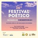 Festival Poético do Sesc Cornélio Procópio está com inscrições abertas