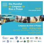 Ação em alusão ao Dia Mundial de Limpeza de Rios e Praias ocorre neste sábado (25)