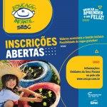 Aberto processo para inscrição na Educação Infantil do Sesc PR